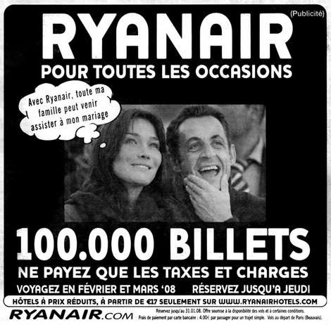 Ryan Air & Sarkozy