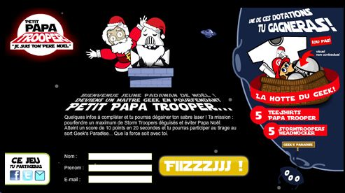 Advergame - petit papa trooper