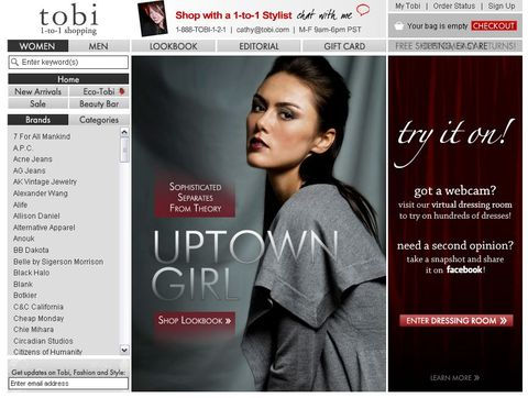 Fashionista, dressing virtuel pour le site Tobi