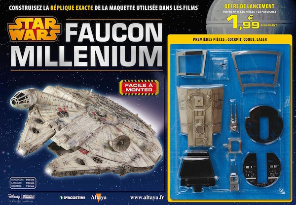 contruisez votre faucon millenium avec altaya starwars le publigeekaire. Black Bedroom Furniture Sets. Home Design Ideas